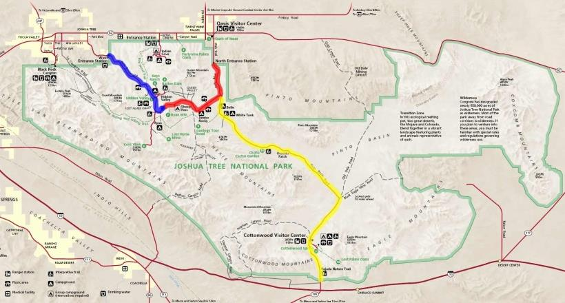 约书亚树国家公园园内地图导览